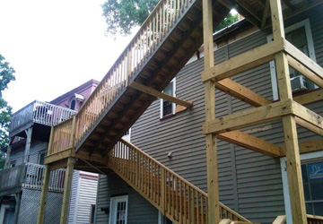 New 3 story stair system