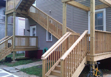 New stairs installed
