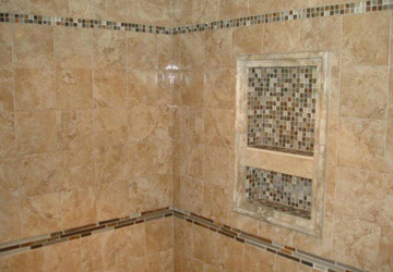 Porcelin Tile with Mosaic Inlay